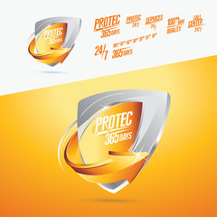 Protec Icon 365 Day Vector