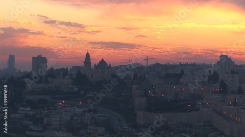 Jerusalem - sunset over the old city