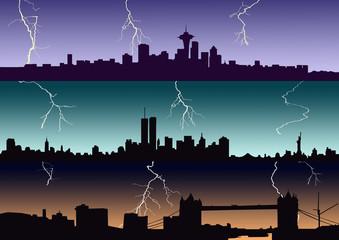 City thunderstorm