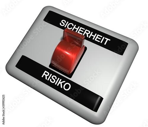 3D Schalter - SICHERHEIT - RISIKO