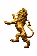 Goldener Löwe - Skulptur