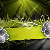 Fototapety green vector party design