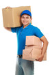delivery man carrying packages