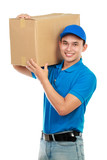 delivery man carrying package
