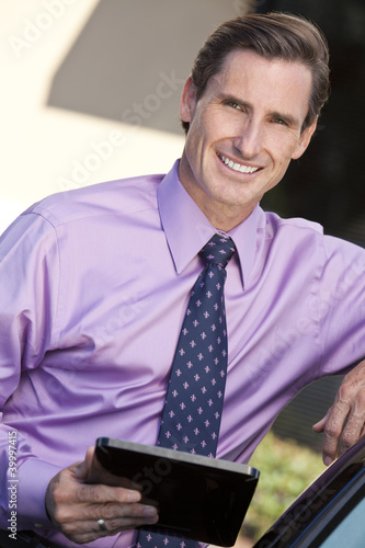 Man Successful Businessman Using Tablet Computer