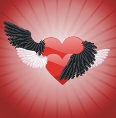 Два абстрактных сердца