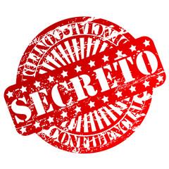 """Carimbo com as palavras """"secreto"""" e """"confidencial"""""""