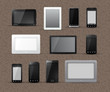 Different Models of Tablets and Smart Phones