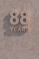 88 years 3d text