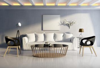 Mediterranean interior, luxury chic vintage architecture
