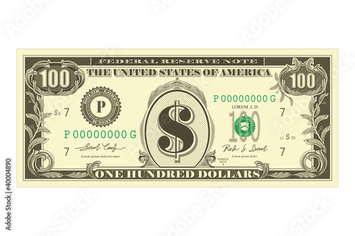 Dollar Note - 40004890
