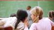 Pupils whispering secrets