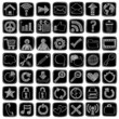 Sketchy Doodle Web / Computer Icon Set Vector Design Elements