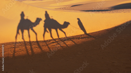 Camel ride on the Sahara Desert, Morocco
