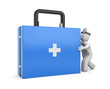 Medic with first aid kit