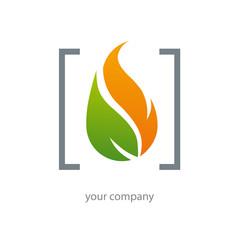 logo habitat, chauffage, flamme