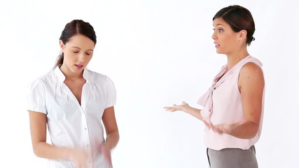 Women having a disagreement