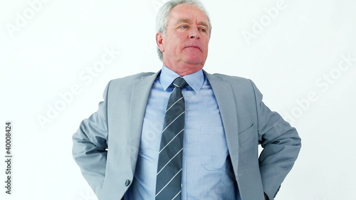 Mature man having back troubles