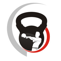 kettlebel logo swing