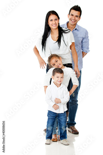 Happy family isolated