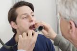 Fototapety Throat Exam With Depressor