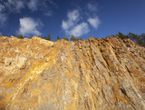 Quarry in Sweden, wide angle photo