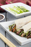 Peking Duck Wraps with spring onion, cucumber & hoisin sauce poster