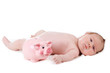 portrait of adorable baby. beautiful baby boy on white backgroun