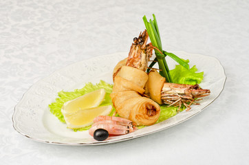 shrimps dish