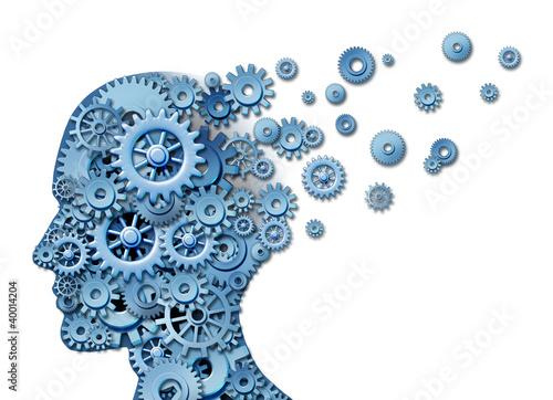 Leinwanddruck Bild Brain Loss