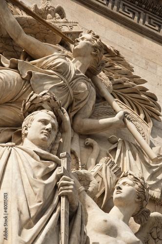 Poster détail arc de triomphe,  triomphe de 1810