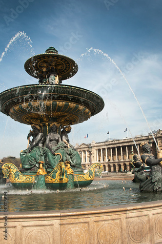 fontaine place de la concorde à Paris