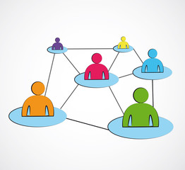réseaux sociaux couleur