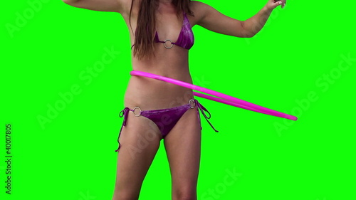 Woman spinning a hula hoop