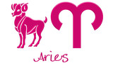 Aries Zodiac Signs - Hot Pink