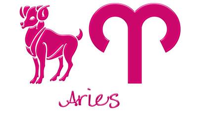 Aries Zodiac Signs - Hot Pink