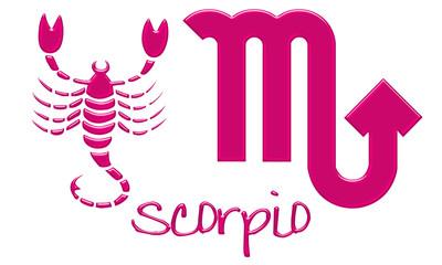 Scorpio Zodiac Signs - Hot Pink