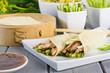 Peking Duck Wraps with spring onion, cucumber & hoisin sauce