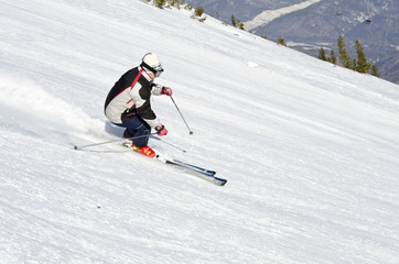 Skier on the mountain side