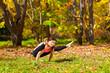 Yoga tittibhasana pose