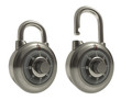 Titanium Padlocks Closed Open Over White