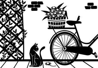 bicicletta in giardino