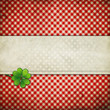 grunge background with clover leaf