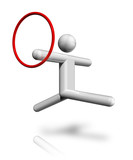 Gymnastics Rhythmic 3D symbol poster