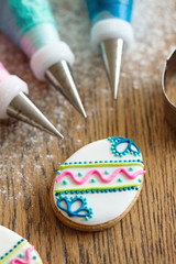 Decorating Easter cookies