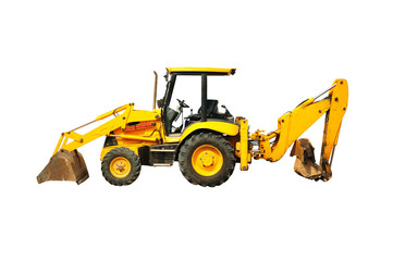 Wheel loader machine  Isolated