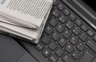 Zeitung auf Computer