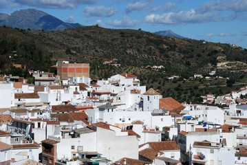 View of town, Monda, Andalucia, Spain © Arena Photo UK