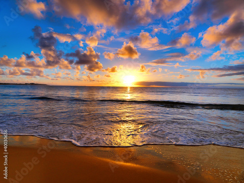 beautiful sunset on the Australian beach