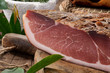 Speck , salume tipico Alto Adige, Italia - close-up